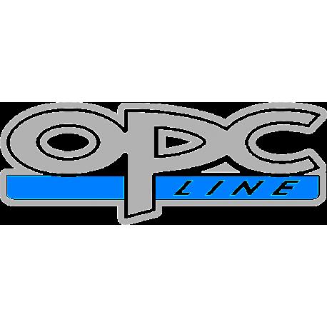 AKCIÓ OPC LINE Kék/Ezüst matrica autóra 2db.