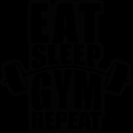 EAT SLEEP GYM faltetoválás