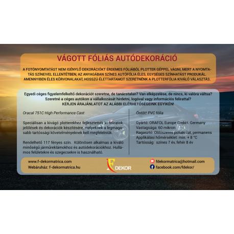 3 AKCIÓ Céginformációs csomag az autó 3 oldalára. Cégnév, logó,vagy szlogen, mobilszám, weboldal felirat