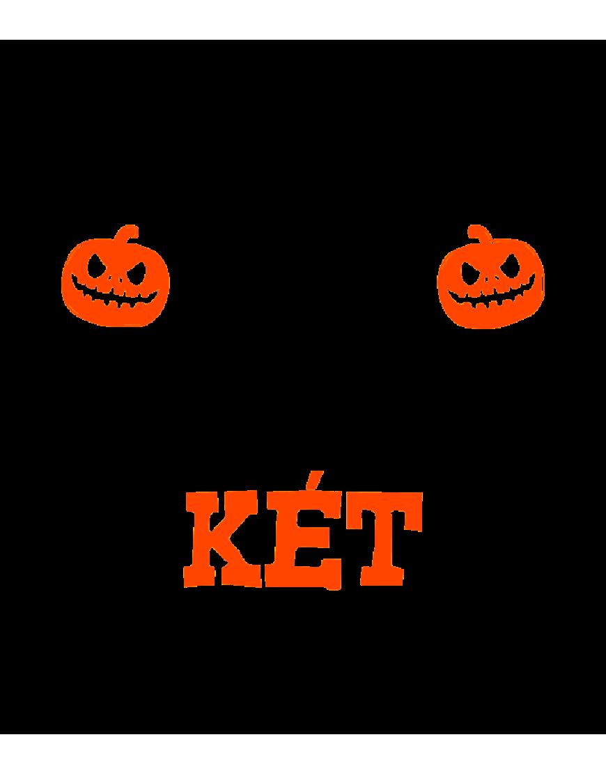Halloween ( Nem tudsz megijeszteni ) faltetoválás fekete/narancs színben