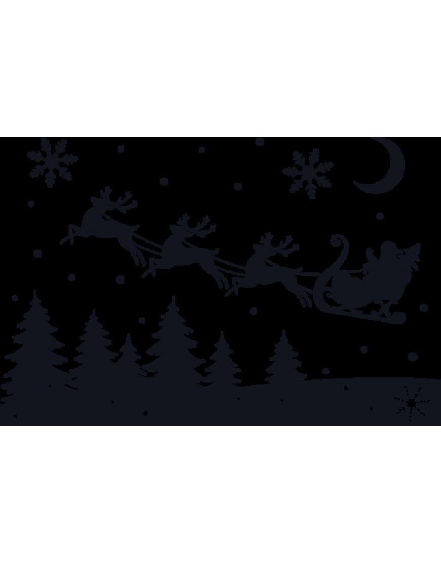 Karácsonyi dekoráció télapó szánnal 1