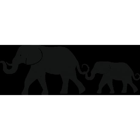 Elefántok faltetoválás