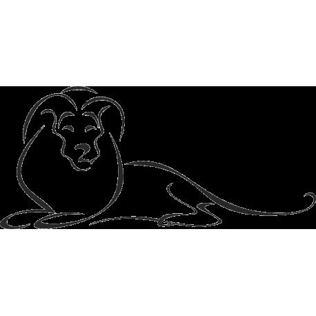 Fekvő oroszlán falmatrica
